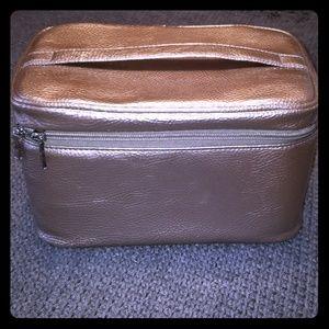 Silver makeup case from ulta
